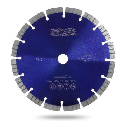 Алмазный сегментный круг 230 MESSER FBZ железобетон