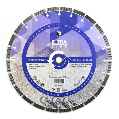 Сегментный алмазный круг DIAM ЖЕЛЕЗОБЕТОН Extra Line