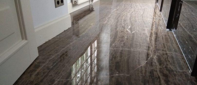 Восстановленный мраморный пол