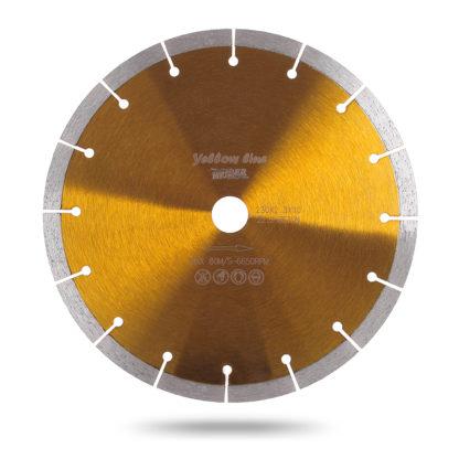 Алмазный сегментный диск 125 MESSER YELLOW LINE BETON