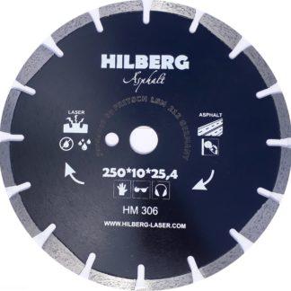 Алмазный сегментный диск 250-10-25.4Hilberg Asphalt Laser HM306