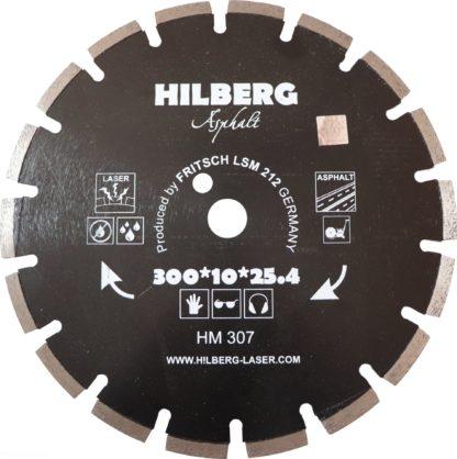 Алмазный сегментный диск 300-10-25.4 Hilberg Asphalt Laser HM307