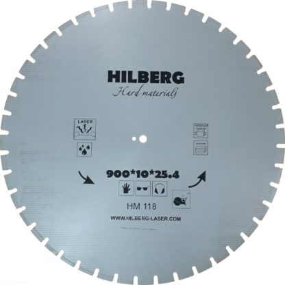 Алмазный сегментный диск 900-10-25.4 Hilberg Hard Materials Laser HM118