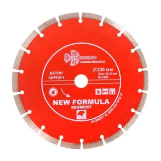 230 алмазный сегментный диск New Formula Segment S206