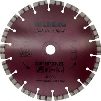 230 алмазный турбо-сегментный диск Hilberg Industrial Hard Laser HI 806