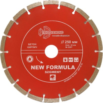 250 алмазный сегментный диск New Formula Segment S207