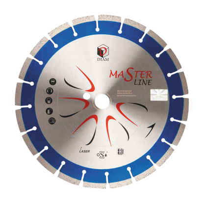 Алмазный сегментный диск DIAM железобетон Master Line 350x3,0x10x25,4