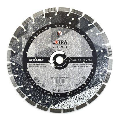 Сегментный алмазный круг DIAM АСФАЛЬТ Extra Line 500х3,5х12х25,4