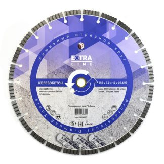 300 Сегментный-алмазный-круг-DIAM-ЖЕЛЕЗОБЕТОН-Extra-Line